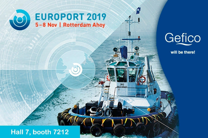 Gefico takes part in Europort Rotterdam 2019 as exhibitor.